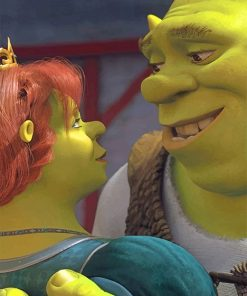 The Perfect couple Shrek and Fiona Paint by numbers
