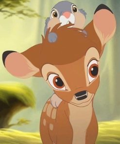 Disney Deer and Rabbit Paint By Numbers