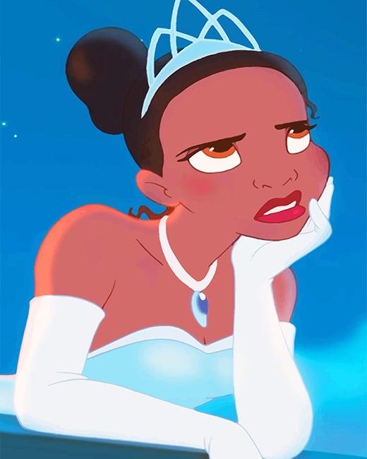 Tiana Disney Princess Paint By Numbers Numpaint