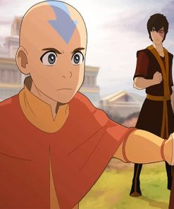 Aang And Zuko Paint by numbers