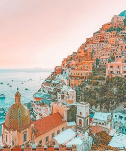 Amalfi Coast Italy adult paint by numbers
