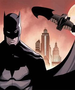Animated Batman paint by number