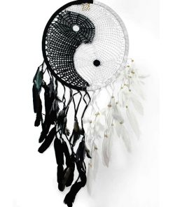 Black and white dream catcher adult paint by numbers