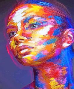 Colorful Face woman adult paint by numbers