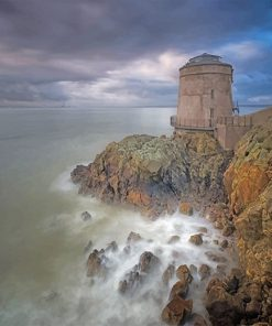 Dublin Ireland Martello tower adult paint by numbers
