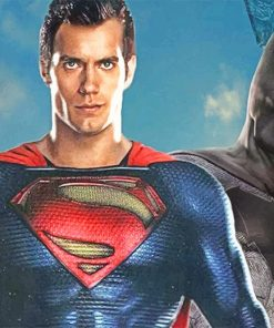 Justice League Superman and Batman adult paint by numbers