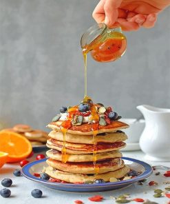 Sweet Pancake with honey adult paint by numbers