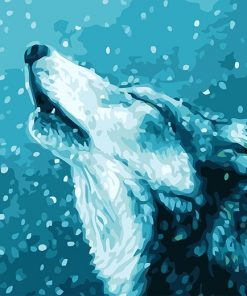 The Howl Of A Lone Wolf Paint by number