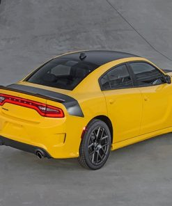 Yellow Dodge Charger Daytona 2016 adult paint by numbers