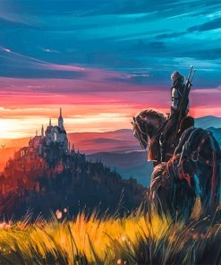 Aenami The Witcher paint by number
