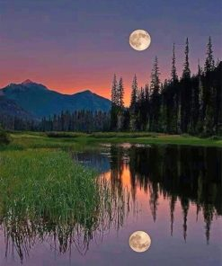 Beautiful Moon Reflect paint by number