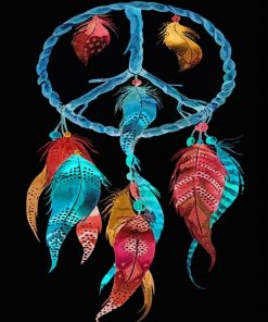 Colorful Dream-catcher paint by number