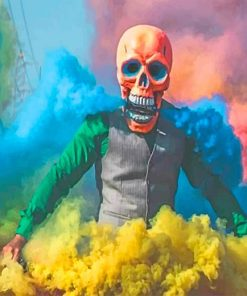 Colorful Smoke Skull Paint by numbers