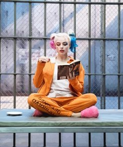 Harley Quinn Reading paint by number