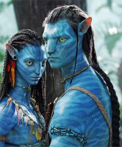 Jake Sully And Neytiri Avatar paint by number