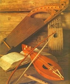 Medieval Bard Instrument paint by number