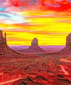 Monument Valley Arizona paint by number