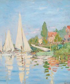 Claude Monet Regatta at Argenteuil paint by number
