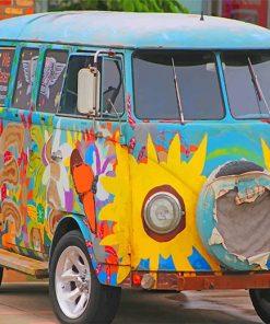 vintage volkswagen van adult paint by numbers
