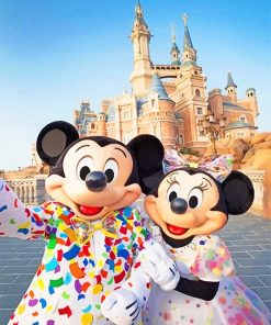 Mickey And Minnie Mouse Paint By Numbers