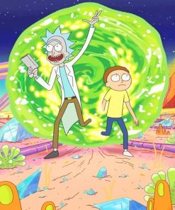 Rick And Morty Adventure Paint By Numbers