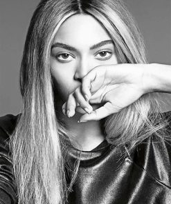 Black And White Byoncé Paint By Numbers