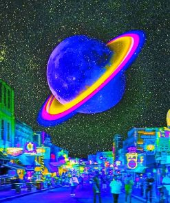 Aesthetic planet adult paint by numbers