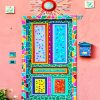Artistic colorful door adult paint by numbers