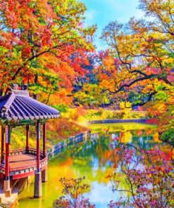 Autumn In Korea paint by number