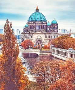 Berlin Cathedral Church paint by number