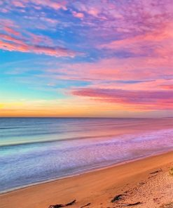 Colorful beach sky adult paint by numbers