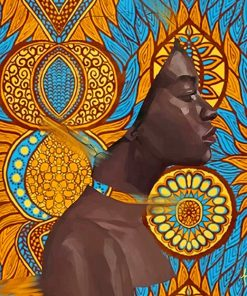 Contemporary African art adult paint by numbers