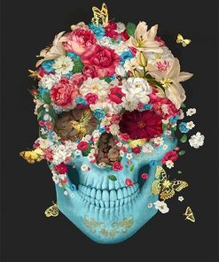 Flower Skull adult paint by numbers