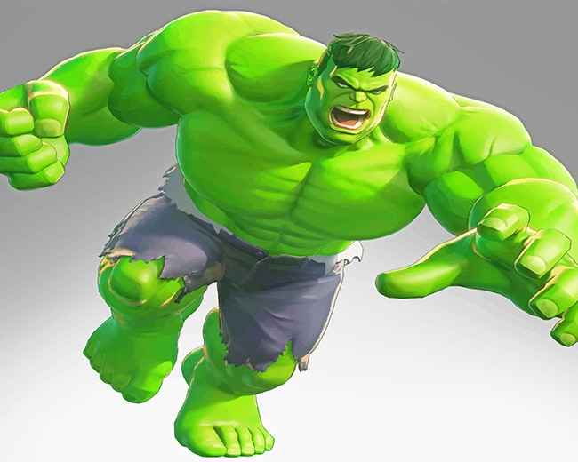 Hulk Animation adult paint by numbers