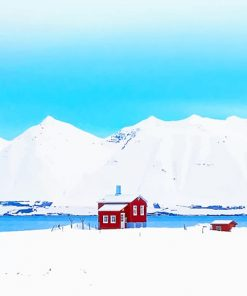 Iceland weather landscapes adult paint by numbers