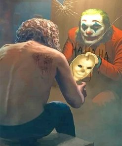Joker in the mirror adult paint by numbers