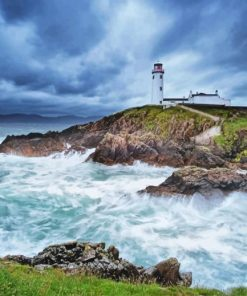 Lighthouse Letterkenny Ireland paint by number