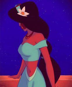 Princess Jasmine Aesthetic Cartoon adult paint by numbers