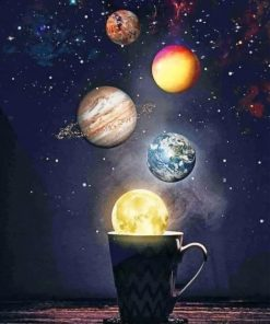 Space Artwork adult paint by numbers