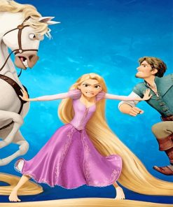 Tangled disney adult paint by numbers