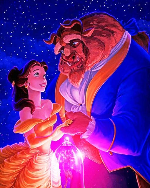 The beauty and the beast animation adult paint by numbers