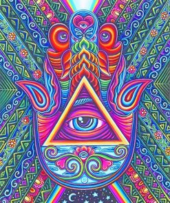 Third eye psychedelic art adult paint by numbers