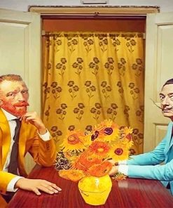 Van Gogh and Dali adult paint by numbers