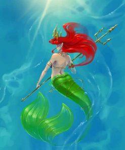 Ariel Mermaid paint By numbers