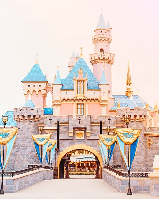 Beautiful Disney Castle paint By Numbers