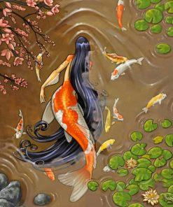Beautiful Mermaid Illustration paint by number