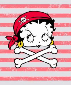 Betty Boop Pirate Face paint by numbers