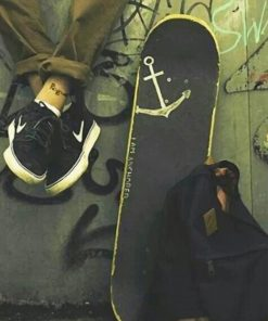 Black Skateboard paint by number