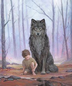 Boy And Wolf paint by numbers