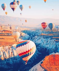 Cappadocia Hot Air Balloon paint By Numbers